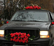 Decoration / accessories on the car for the wedding Moscow