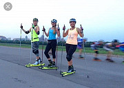 Roller skis hire workout