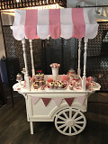 CandyBar cart (sweet table) wedding decor St. Petersburg