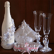 Wedding accessories, glasses, champagne, home, Kemerovo